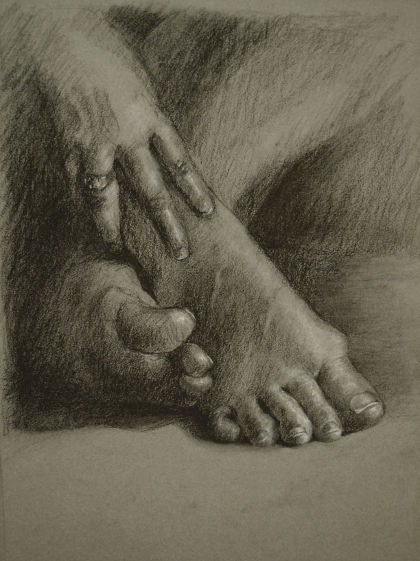 Figure study hands and feet