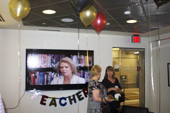 teacher appreciation gallery reception at the art institute of washington