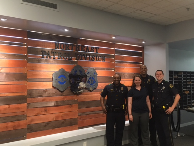 Dallas Interior Design Student Designs Honor Wall For Local Police