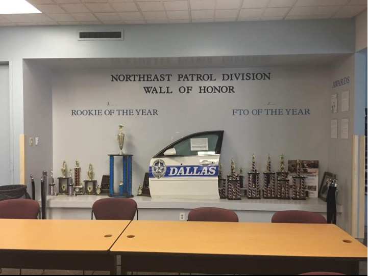 DPD Award Wall. Dallas Interior Design Student Designs Honor Wall for Local Police