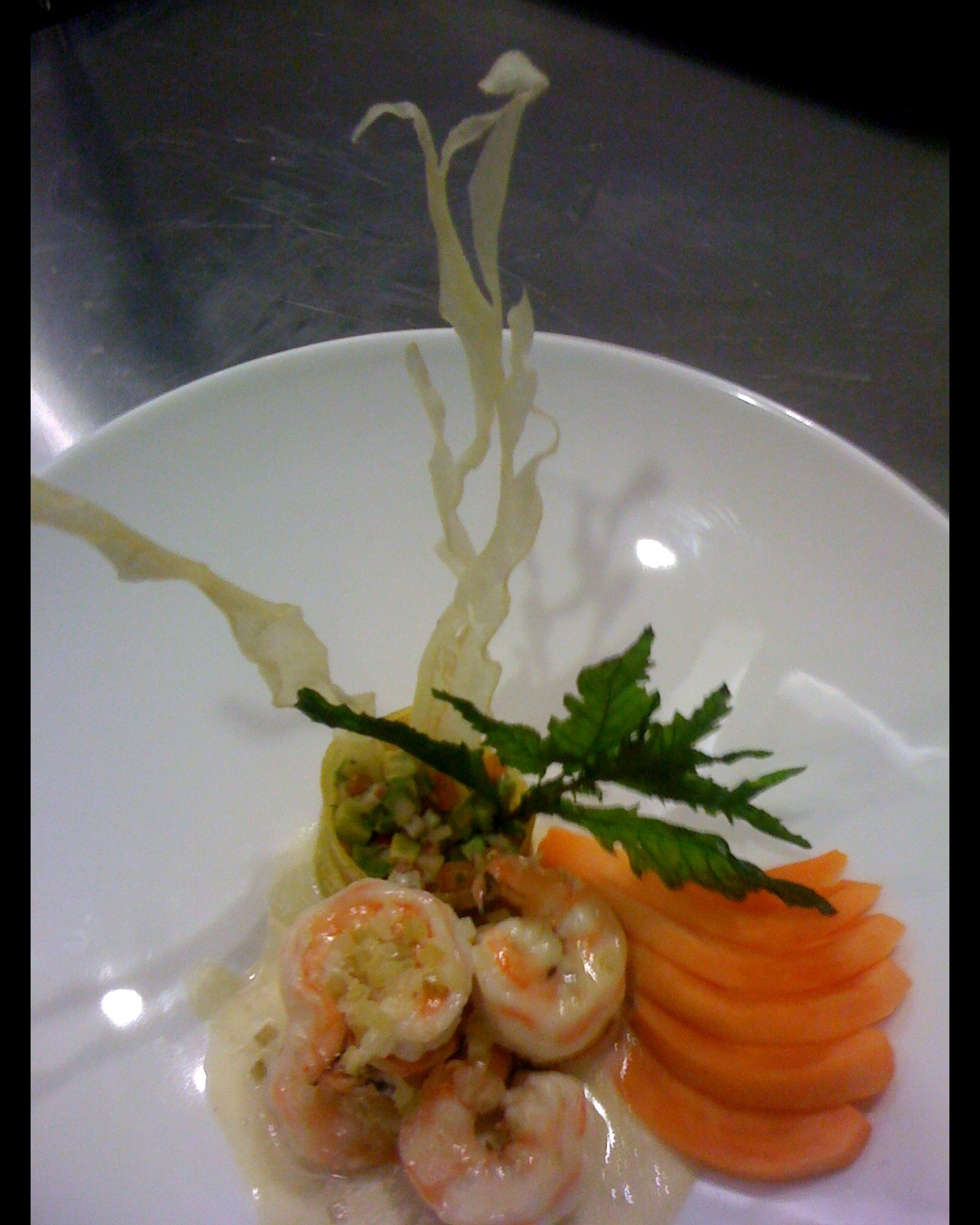 Food Photography, Culinary, Shrimp Dish, Shrimp with Carrots