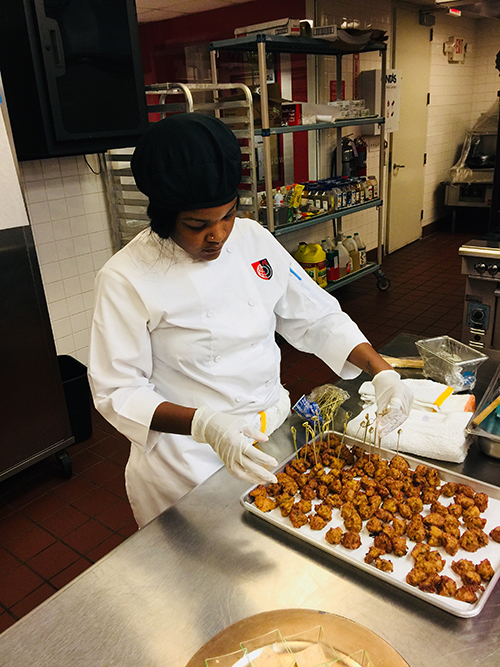Art Institute of Fort Lauderdale culinary student