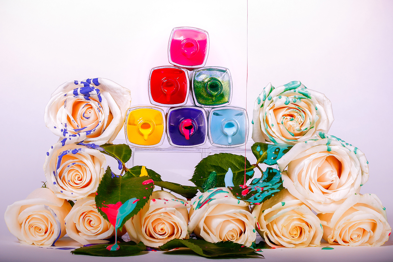 Product Photography, Nail Polish, Roses