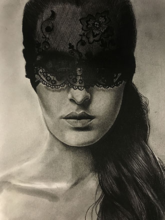 Illustration in charcoal