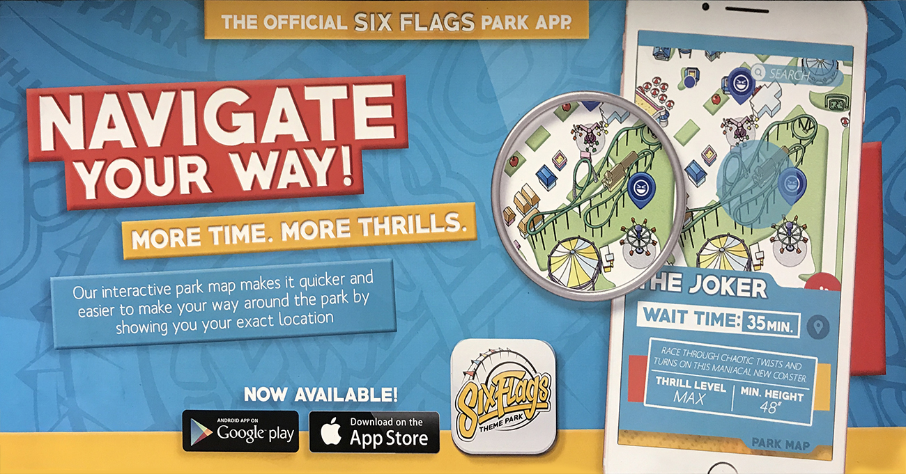 Navigation app for Six Flags rebrand