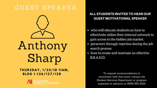AiCAIE Guest Speaker Anthony Sharp Event