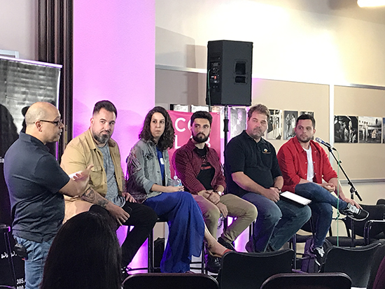 Collab Miami Panelists: George Cuevas, Friks84, Amanda Abella, David Verjano, Pascal Depuhl, Julio Galindez speak about the business of freelancing