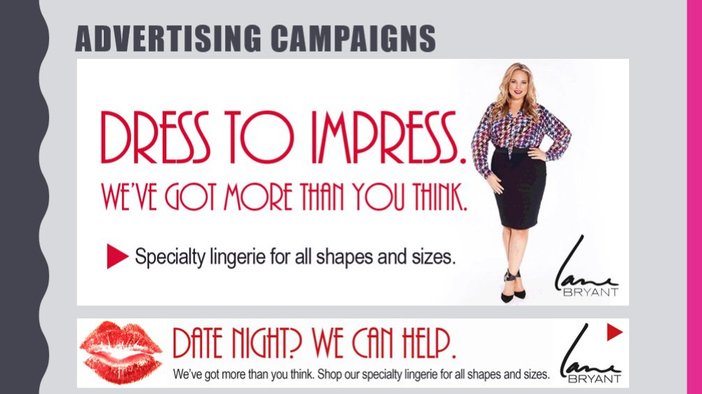 Lane Bryant - Dress to Impress Ad Campaign