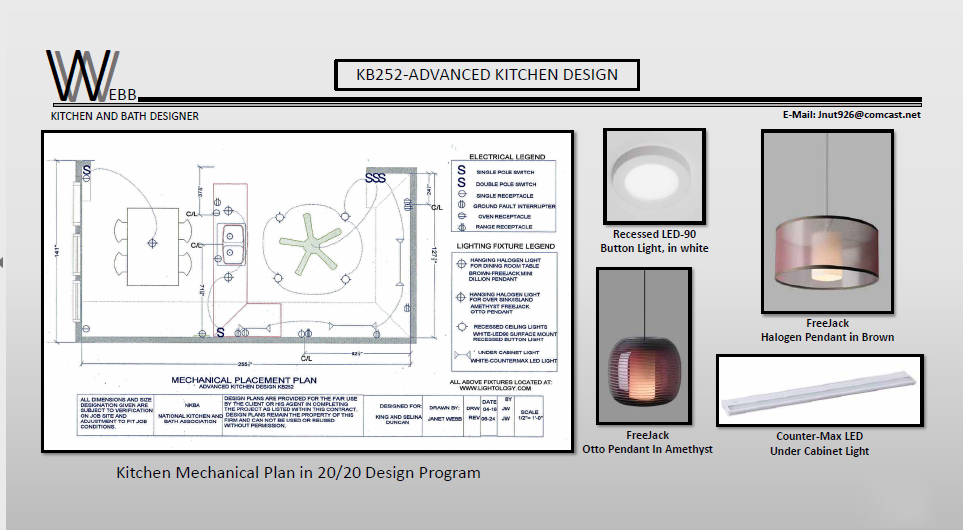 Kitchen mechanical plan in 20/20 Design Program
