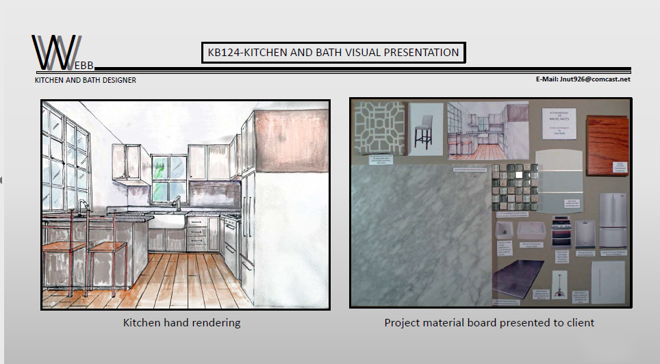 Mood board and kitchen render