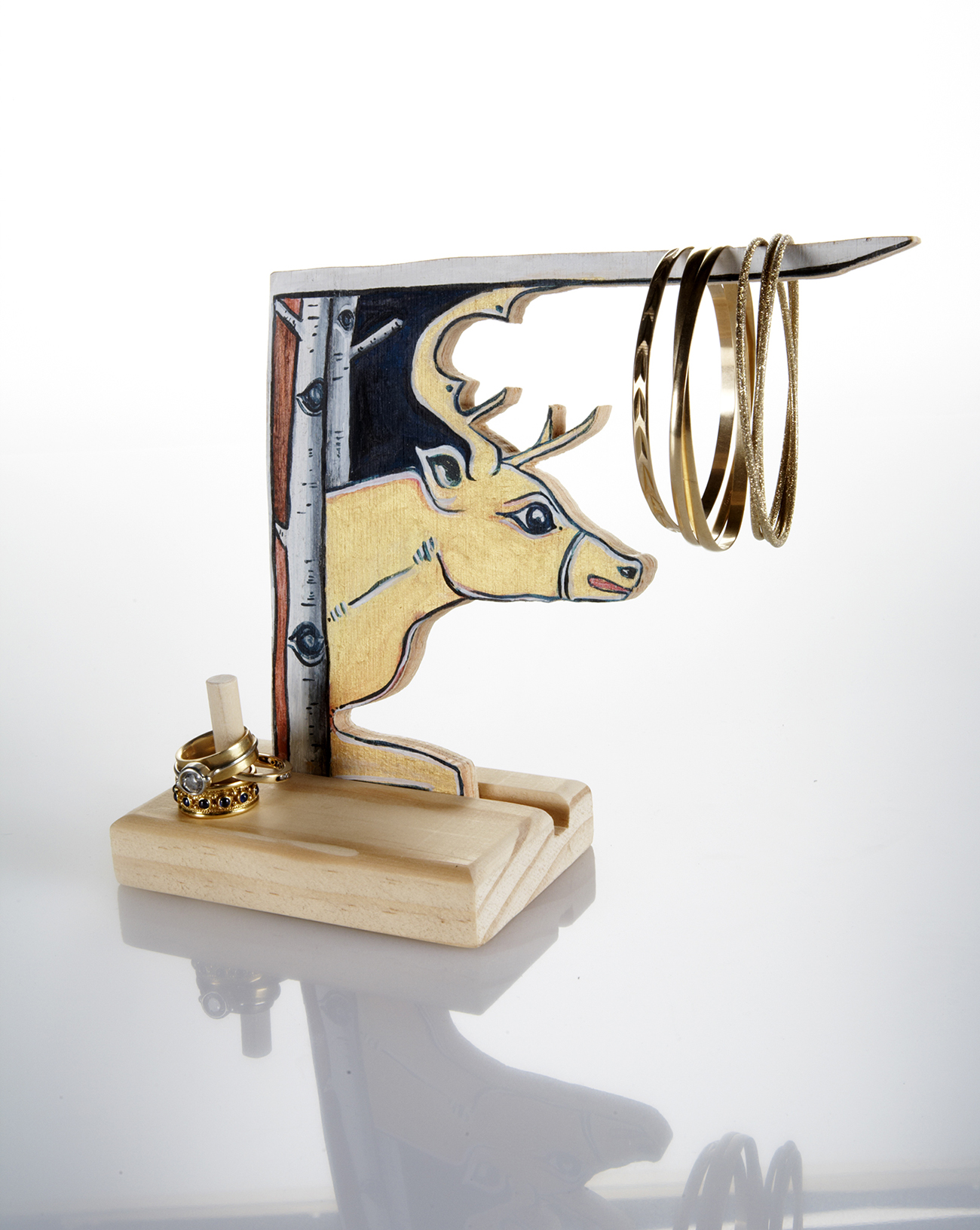 Deer jewelry stand