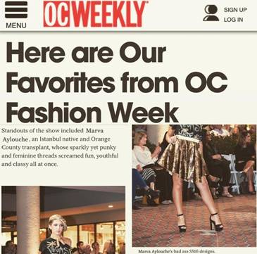 Orange County Fashion Student and Grad Featured in OC Weekly