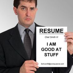 Not a good resume
